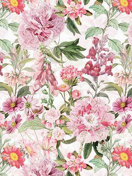 Roze voorjaarsbloemen tuin van Uta Naumann