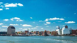 Panorama van de hanzestad Stralsund, Duitsland