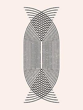 Retro jaren 20 vintage  geometric shape in Bauhaus stijl . Nr. 18 van Dina Dankers