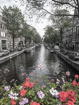 Kanalansicht in Amsterdam, Niederlande von Roland de Zeeuw fotografie