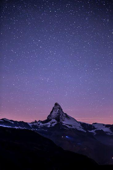 Sternenhimmel über dem Matterhorn