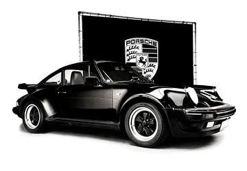 Porsche 964 Turbo zwart-wit van