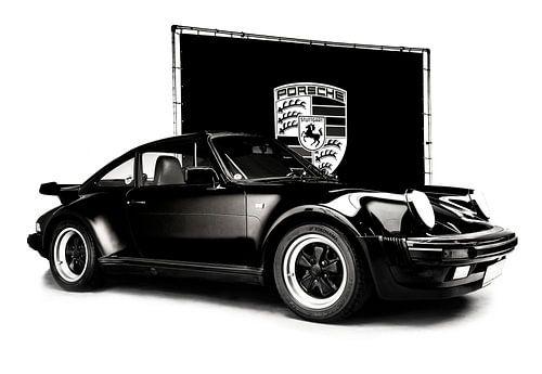 Porsche 964 Turbo zwart-wit van Anouschka Hendriks