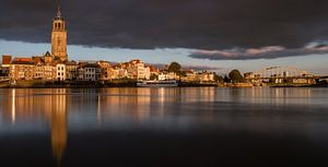 Golden light - Deventer Skyline panorama