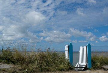 Blue horizon 2 van Birgitte Bergman