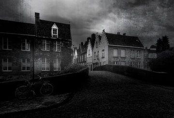 Bruges en noir et blanc.... sur Wim Schuurmans
