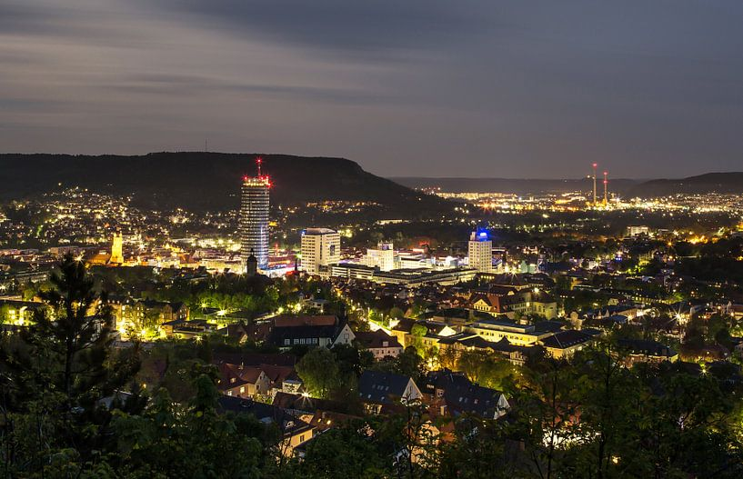 Jena bij nacht van Frank Herrmann