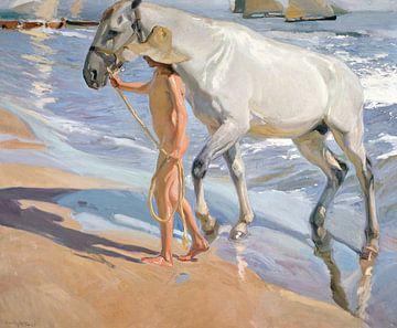 Das Bad des Pferdes, Joaquín Sorolla y Bastida