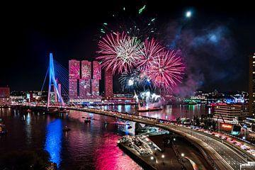 Rotterdam Fireworks Wereldhavendagen van Midi010 Fotografie