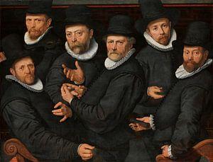 Zes waardijns van de lakenen, Pieter Pietersz. (I) van