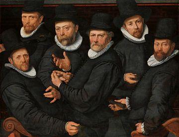 Zes waardijns van de lakenen, Pieter Pietersz. (I) sur