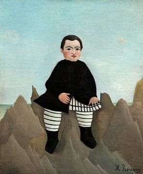Junge auf den Felsen, Henri Rousseau von Liszt Collection