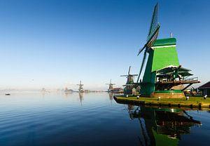 Windmolens aan de Zaanse Schans van