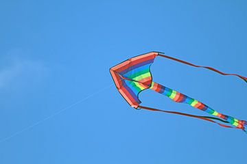 Vlieger in een strakke blauwe lucht van Ronald Smits