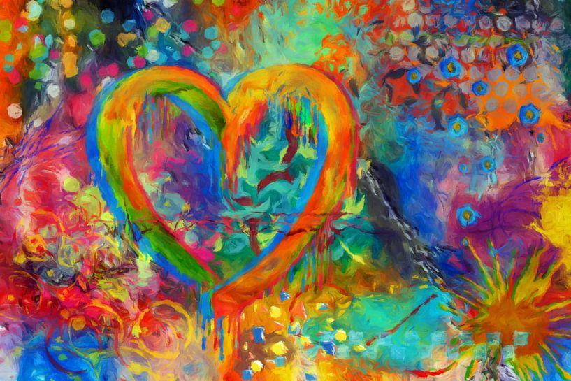 Herz abstrakt II von Marion Tenbergen