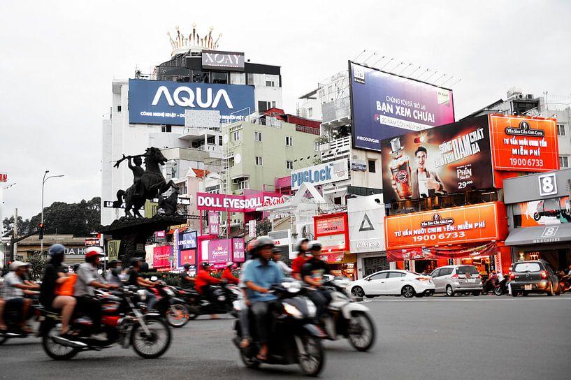 Vietnam, Ho Chi Minh stad - Verkeerschaos van Lars Scheve
