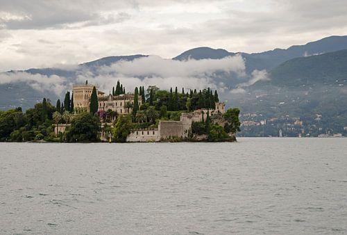 Isola del Garda in lake Garda in Italy