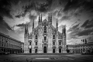MILAN Cathedral Santa Maria Nascente | Monochrome van Melanie Viola