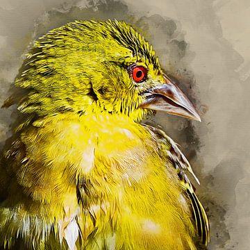 Gelber Vogel (Kunst) von Art by Jeronimo