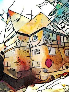 Kandinsky ontmoet Lüneburg #2 van zam art