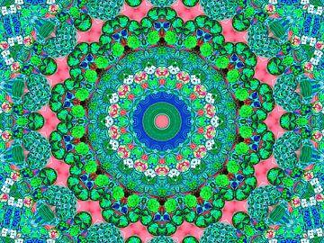 Zoethoudertjes Mandala in Pastelkleur (Vintage of Boho) van Caroline Lichthart