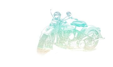 Vintage Harley van Art of Johan Schulte