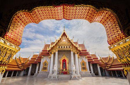 The Marble Tempel in Bangkok von Edwin Mooijaart