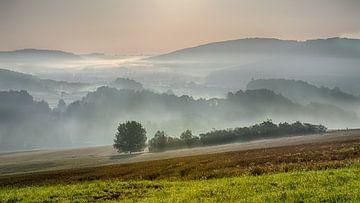 Uitzicht nabij Vráž, Tjsechië van Christa Thieme-Krus