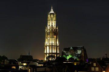 Binnenstad met Domtoren en Domkerk in Utrecht von Donker Utrecht