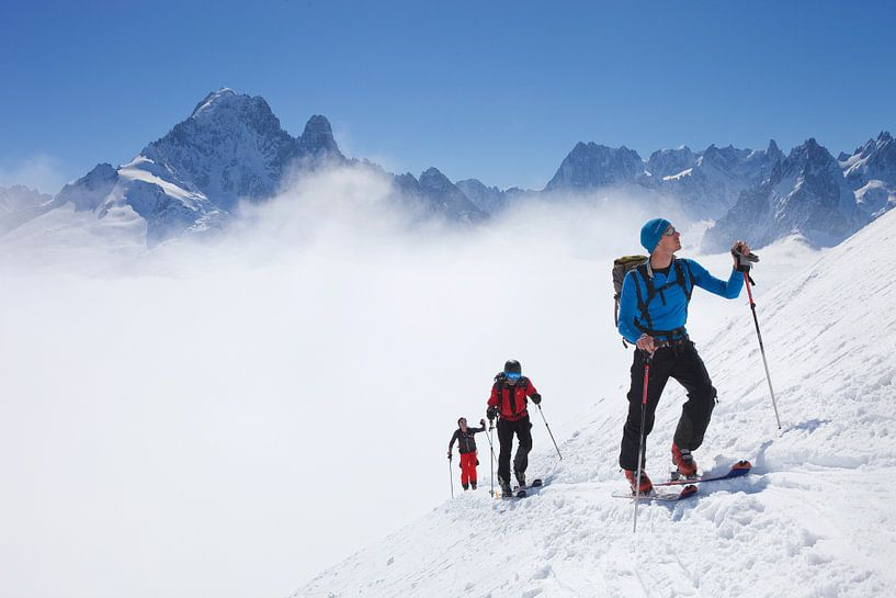 Tourengeher, Chamonix von Menno Boermans