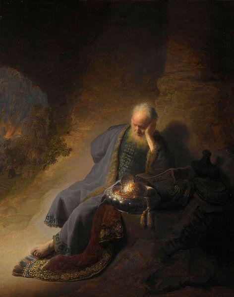 Rembrandt van Rijn. Jeremia treurend over de verwoesting van Jeruzalem van 1000 Schilderijen