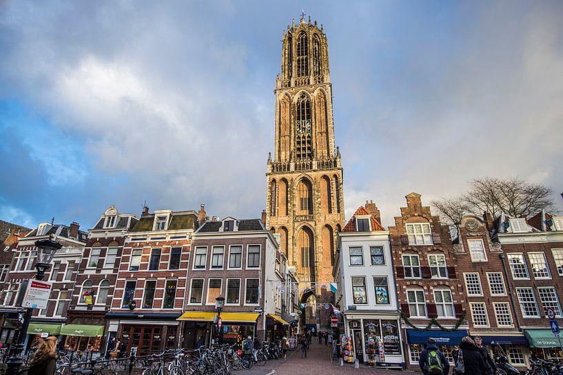 Prachtig licht op de Domtoren in Utrecht van De Utrechtse Internet Courant (DUIC)