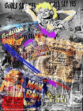 Mansfield I Mansfield Pop Art von Leah Devora
