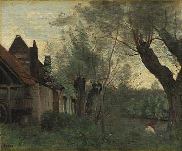 Weiden und Bauernhaus in Sainte-Catherine-lès-Arras, Jean Baptiste Camille Corot