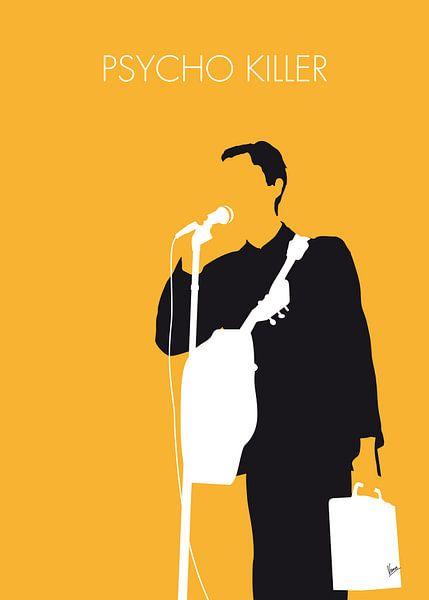 No064 MY TALKING HEADS Minimal Music poster van Chungkong Art