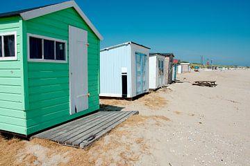 Strandhuisjes bij Kaap Noord van Wim van der Geest