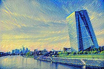 Modern schilderij ECB Frankfurt am Main