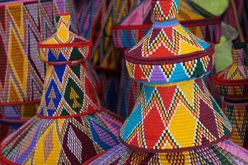 Ethiopische manden voor enjera van