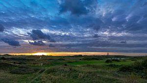 Vuurtoren Texel prachtige zonsondergang van