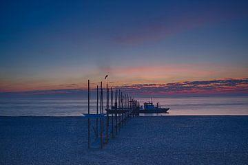 Zonsopkomst Veer Texel-Vlieland  van Waterpieper Fotografie