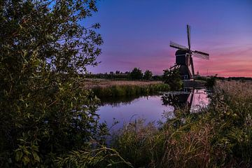 Sonnenuntergang an der Broekmolen von Michelle van den Boom
