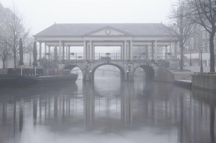 De Koornbrug in Leiden van Martijn van der Nat