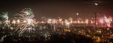 Vuurwerk boven Eindhoven van Jasper Scheffers