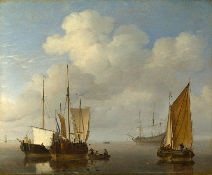 Niederländische Schiffe in der Ruhe, Willem van de Velde von Meesterlijcke Meesters