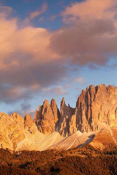 Rosengarten bei Sonnenuntergang, Dolomiten, Trentino-Südtirol, Italien von Markus Lange
