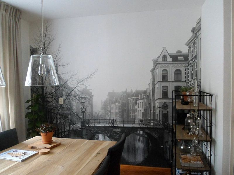 Klantfoto: Maartensbrug in Utrecht gezien vanaf de Vismarkt en Kalisbrug van De Utrechtse Grachten