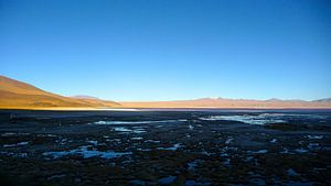 'Zonsondergang zoutvlakte', Bolivia van