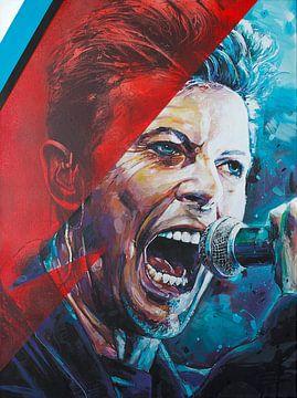 David Bowie schilderij van Jos Hoppenbrouwers