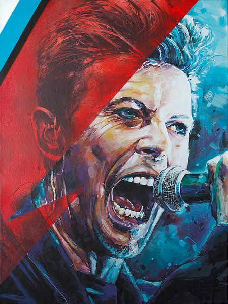 David Bowie malerei von Jos Hoppenbrouwers