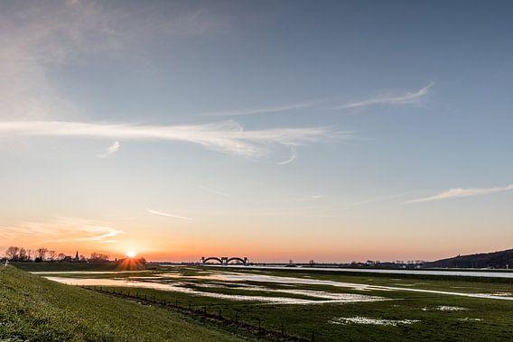 Zonsondergang in Driel